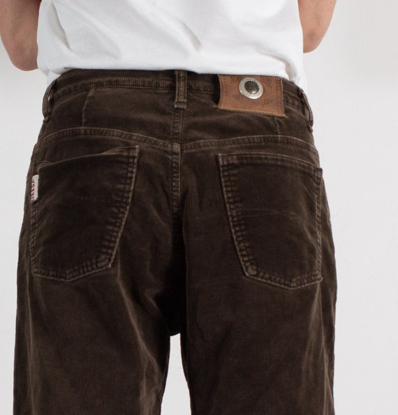 Vintage Mens  Brown corduroy Jeans - W32 Brown Denim Jeans