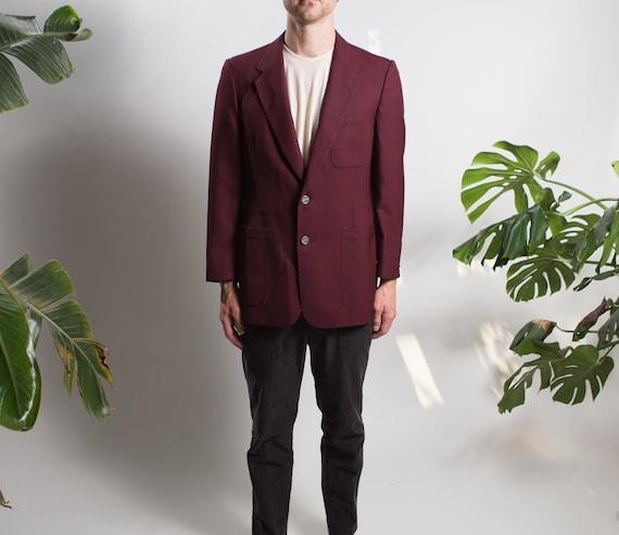 Men's Red Velvet Blazer - Medium Size Velvet Red … - image 1