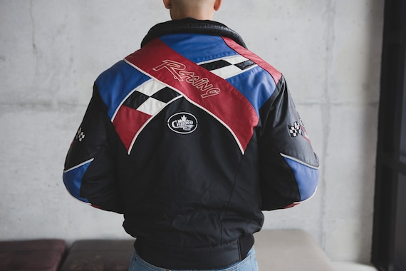 Choko Racing Jacket - Medium Vintage Black Leathe… - image 9