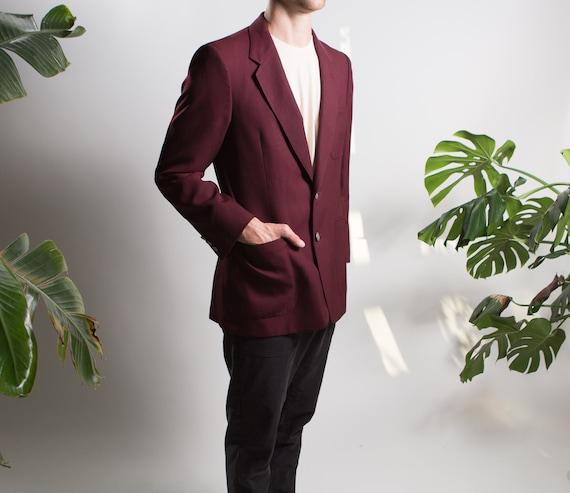 Men's Red Velvet Blazer - Medium Size Velvet Red … - image 3