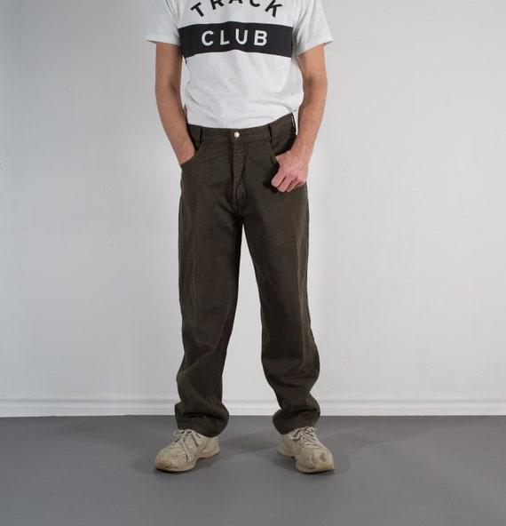 Vintage Mens America Jeans - W33 Dark Green Denim Jeans