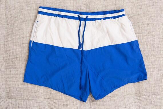 Vintage Swim Shorts - Large Size Retro Men's Surf