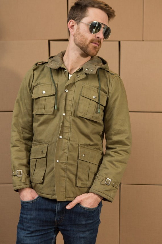 Vintage Military Jacket - Small Mens Army Style Green Uniform Style U.S.A Army Coat