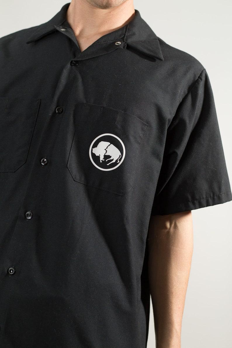 Men/'s Large Size Button Down Short Sleeve Shirt Buffalo Airways shirt Northwest Territories Vintage Black Airplane Shirt