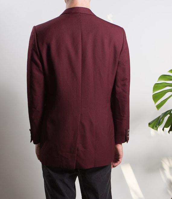 Men's Red Velvet Blazer - Medium Size Velvet Red … - image 5
