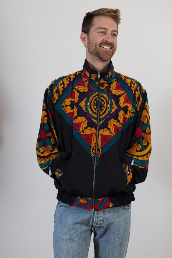 Vintage Baroque Jacket - Men's or Women's Gucci Inspired Hip Hop Fresh Prince Windbreaker Coat