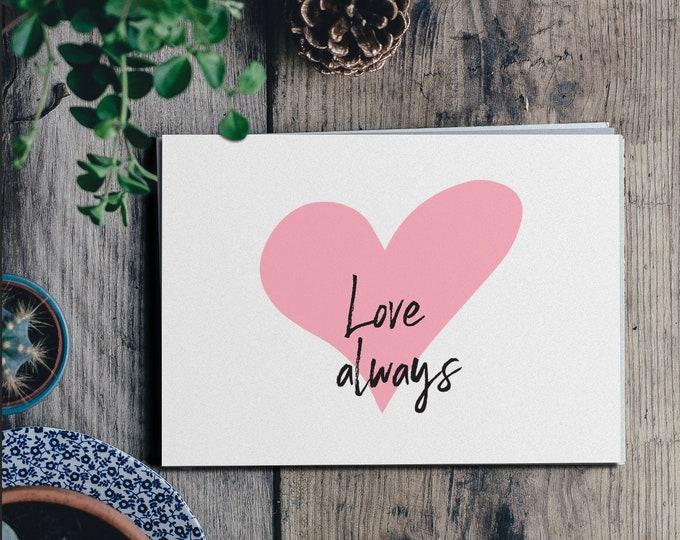Love Always - Wedding/ Personal Signage - Wall Art Print Table Love Intimate 8.5x11 Digital Download Printable Quote AirandSeaStudio