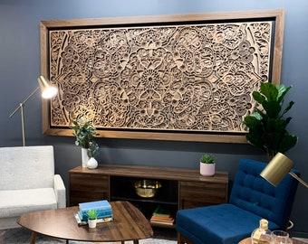 """Alleviation ~96x48"""" Large Scale Artwork Wooden Wall Art"""