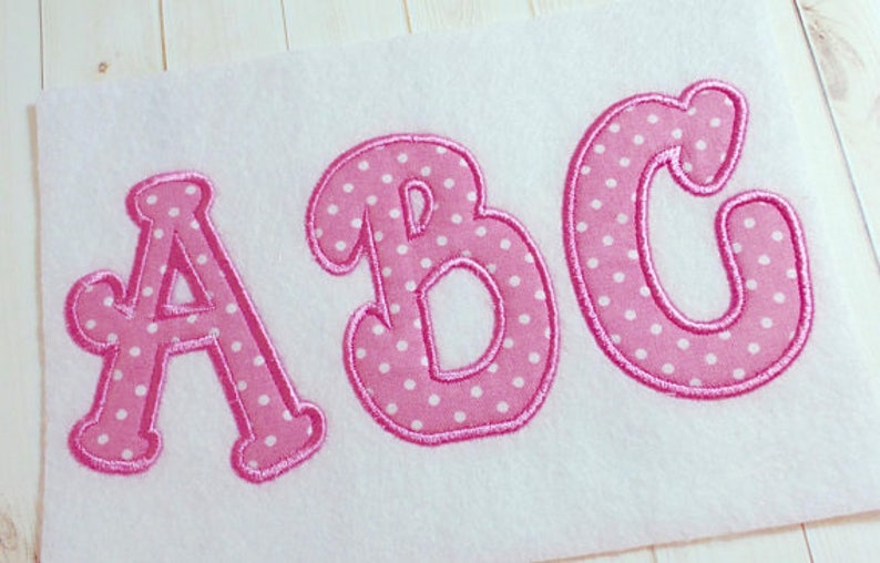 Applique Bubble alphabet monogram embroidery font, machine embroidery  instant download alphabet letters, Appliqué alphabet