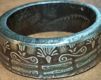Egyptian Pharaoh Silver Ring .999 Fine Silver