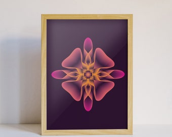 Geometry sacred PRÉSENT - Graphic Art, Illustration, graphic, 3D, print, abstract geometric Design