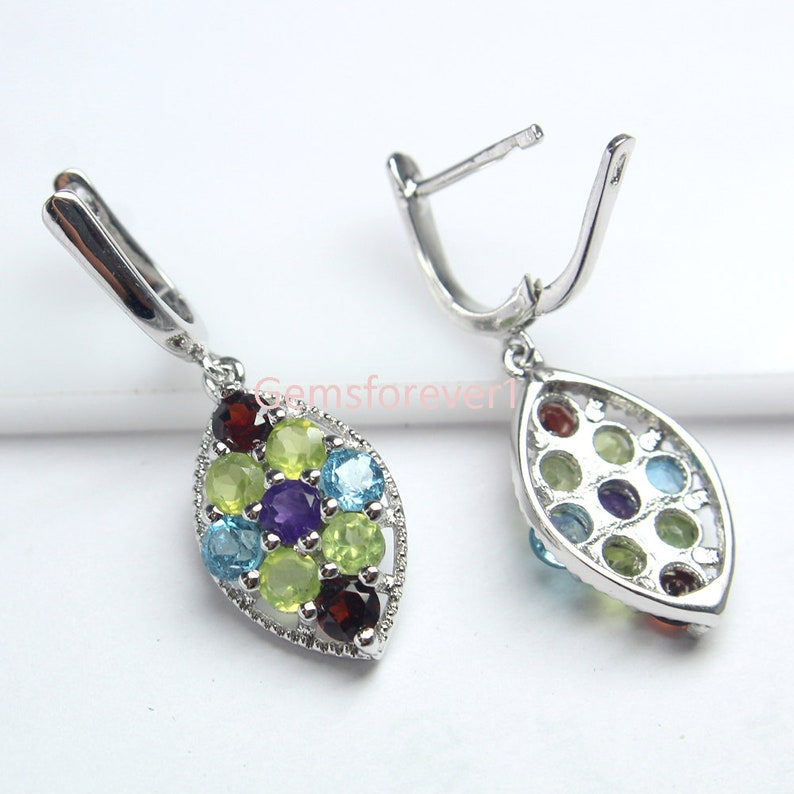 Pendant /& Earring Pendant And Earring Of Natural Gemstones,Fine Silver Multi Gemstone Jewelry Set Silver Ring 925 Solid Silver Set Of Ring