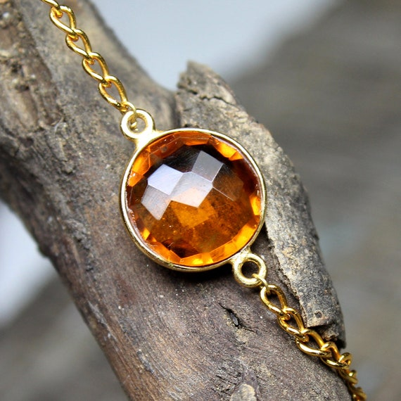 Golden topaz faceted round shape charm pendant connector golden golden topaz faceted round shape charm pendant connector golden topaz connector glossy gold plated golden topaz necklace charm connectors from aloadofball Images