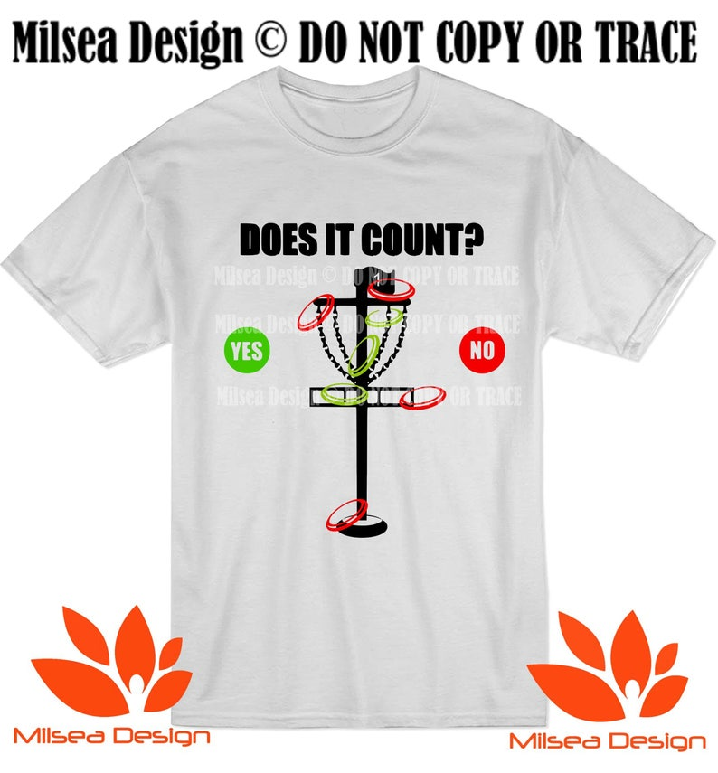 Disc Golf Tee Frisbee Golf T Shirt Adult Does It Count Etsy