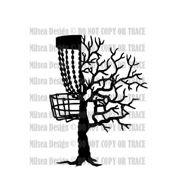 Disc Tree Branches Disc Golf Disc Golf Svg Svg Dxf Eps Etsy