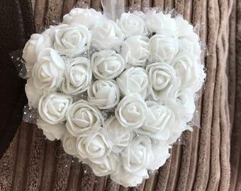 Floral decorative heart shape
