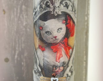 "Candle 19 cm ""Princess kitten"""
