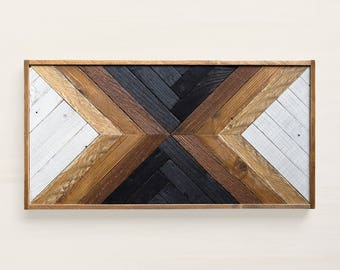 MAKA Reclaimed wood wall art Wood art Wood wall art Art deco furniture Reclaimed wood furniture Geometric wood wall art & Reclaimed wood wall art   Etsy