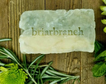 Moisturizing Soap - Spearmint, Tea Tree and Rosemary - 100% Natural - Palm Free - Castile - French Green Clay - Essential Oil