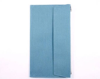 Blue - Fourruof Traveler's Notebook Fabric Insert Standard Sized