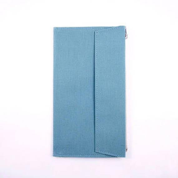 Blue - Fourruof Traveler's Notebook Fabric Insert Standard Sized
