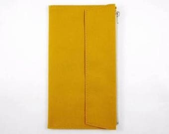 Mustard Yellow - Fourruof Traveler's Notebook Fabric Insert Standard Sized