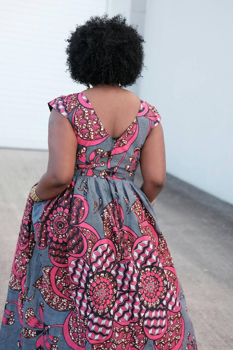 Ankara dress African ankara maxi Dress dress with bold print Ankara print African dress Full length Afrcan clothing African fashion