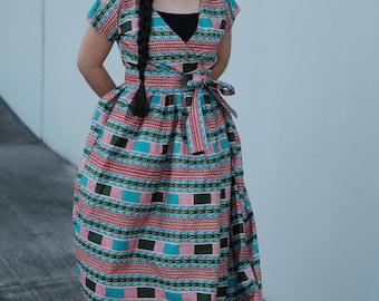 women African ankara full length maxi Dress Ankara print African dress African fashion African clothing