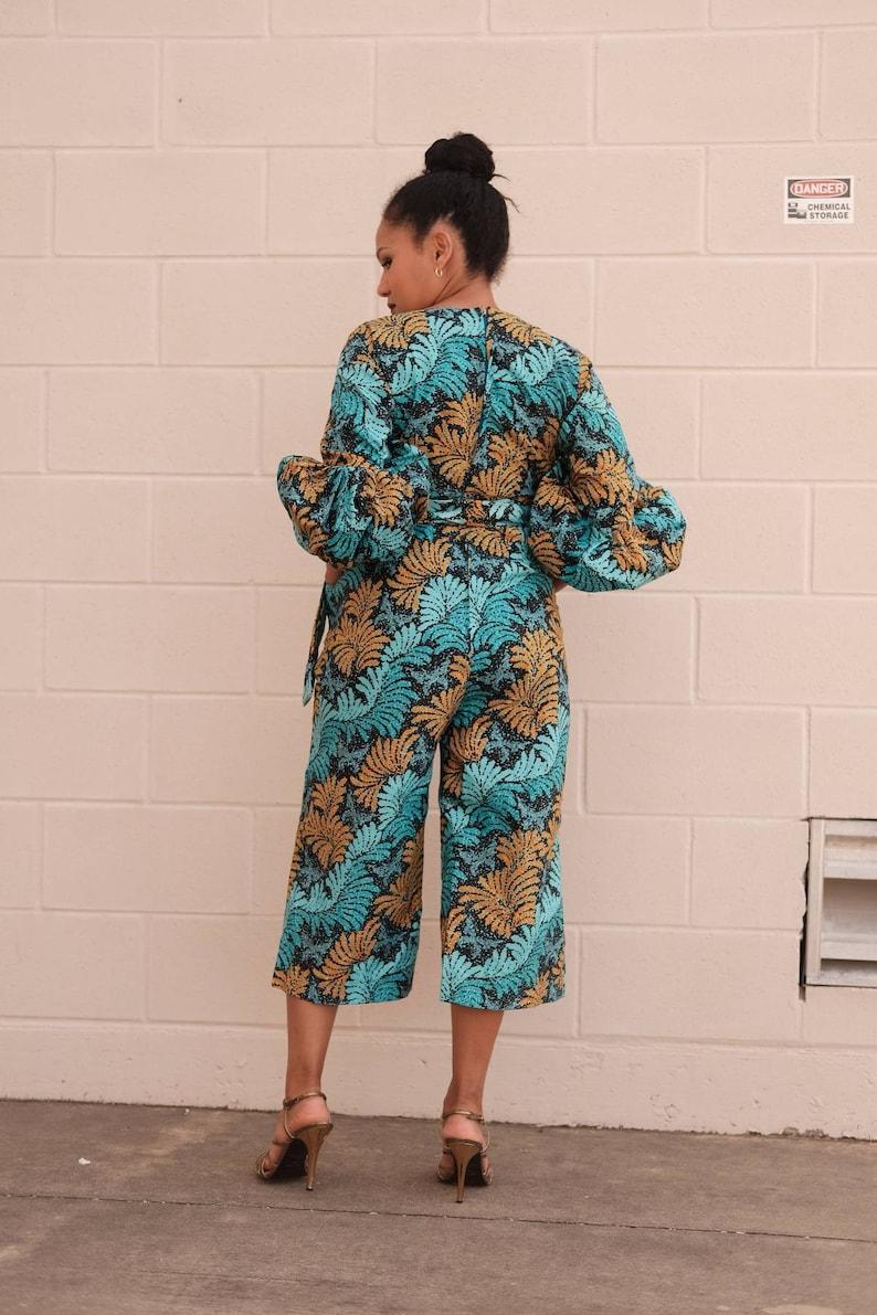 Ankara jump suit women jump suit with belt African fashion African clothing African Ankara print African fashion African wear African attire