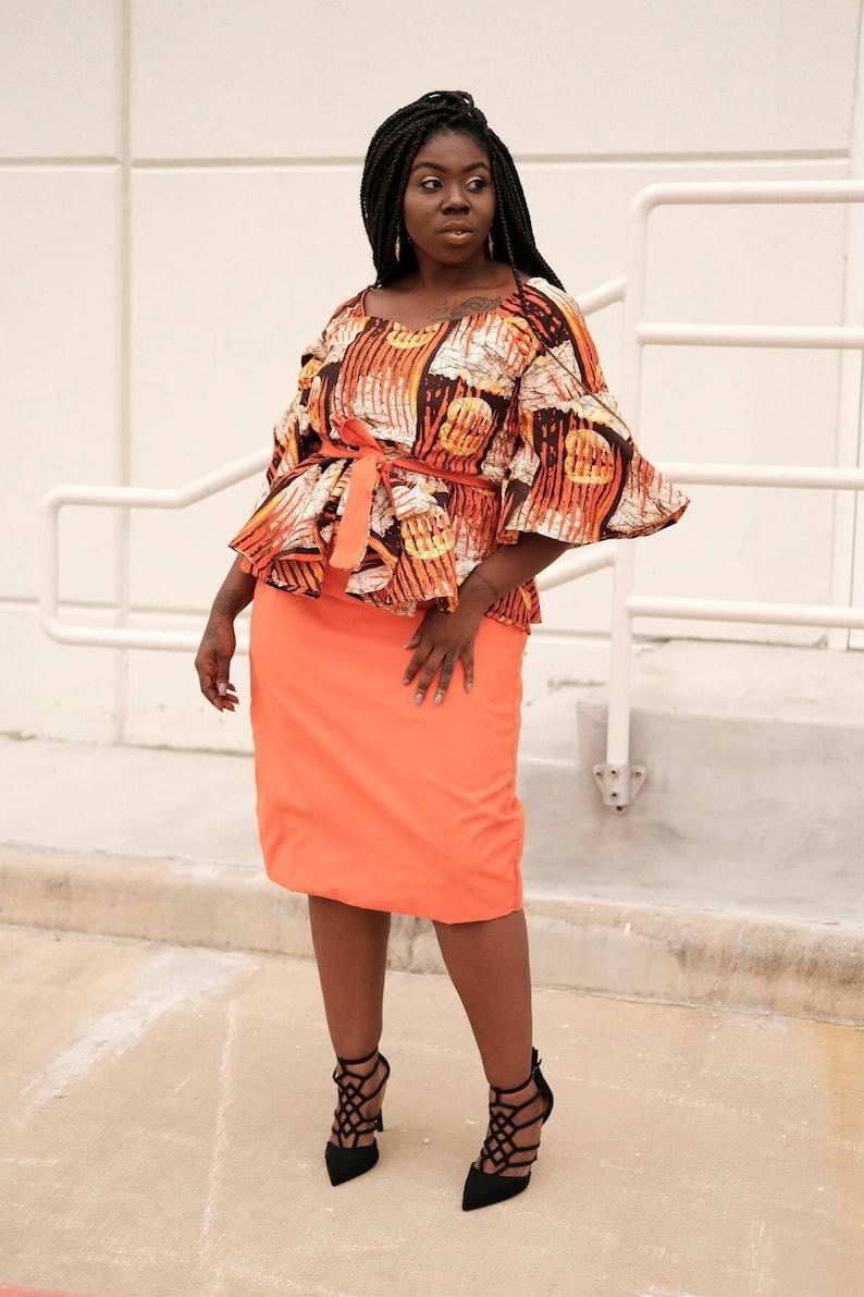 57e6ad3da70dbb Ankara peplum top and pencil skirt with African fashion