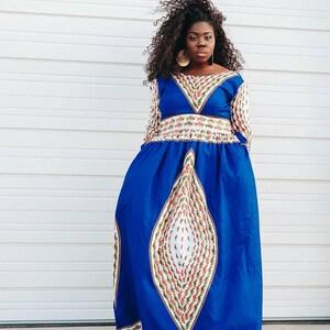 Ankara Robe Femmes Robe Africaine Ankara A Manches Longues Etsy