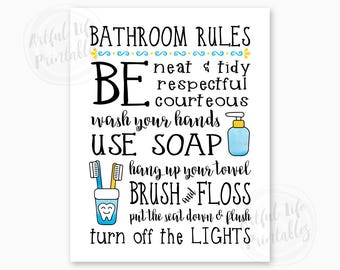 picture regarding Printable Bathroom Rules identified as Lavatory printables Etsy