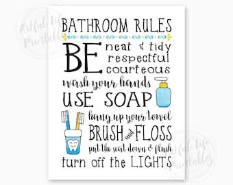 picture regarding Printable Bathroom Rules identified as Lavatory printables Etsy