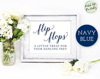 e917a86f9979 Navy Wedding Flip Flops Sign