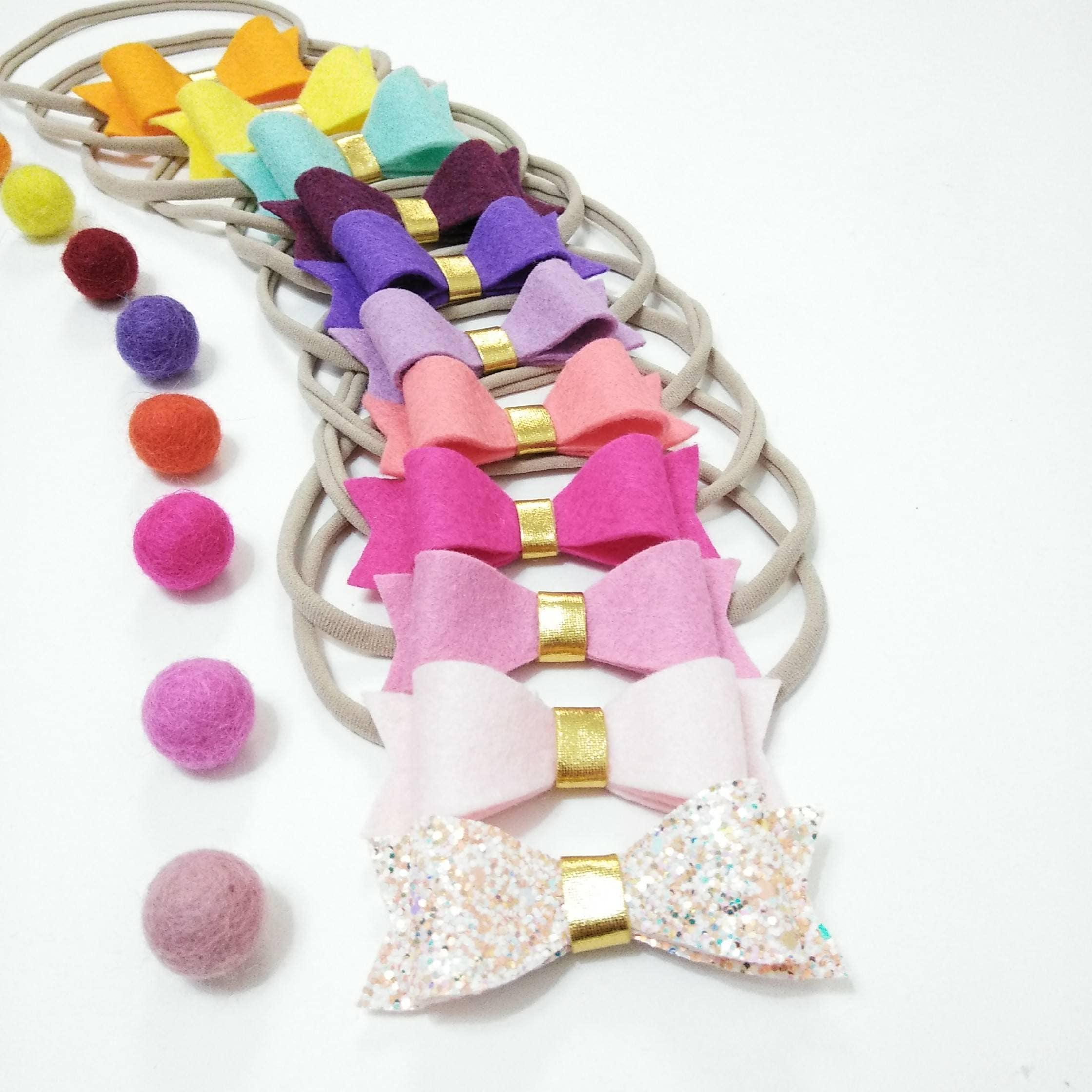 Rainbow Hair Clip. Set of 11. Rainbow Baby Headband. Felt ...