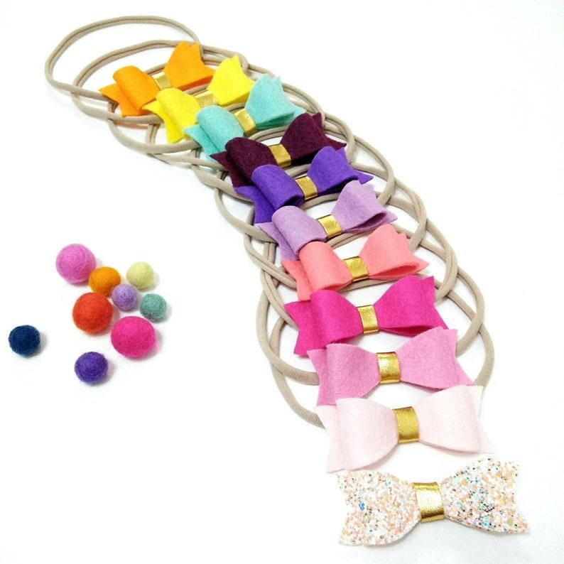 Multicolors Bows Baby Girls  Headband Baby Headband Set of 11 Bows
