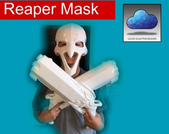 Reaper Mask - Overwatch - 3D Printed . FULLY ASSEMBLED