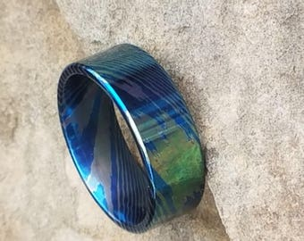 OZEANO Flat Cut Moku-Ti Ring | 8mm