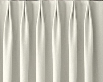 Add pinch pleats top to our custom made curtains (Euro , double/ french, triple, inverted or single / finger pleats). Curtains not included