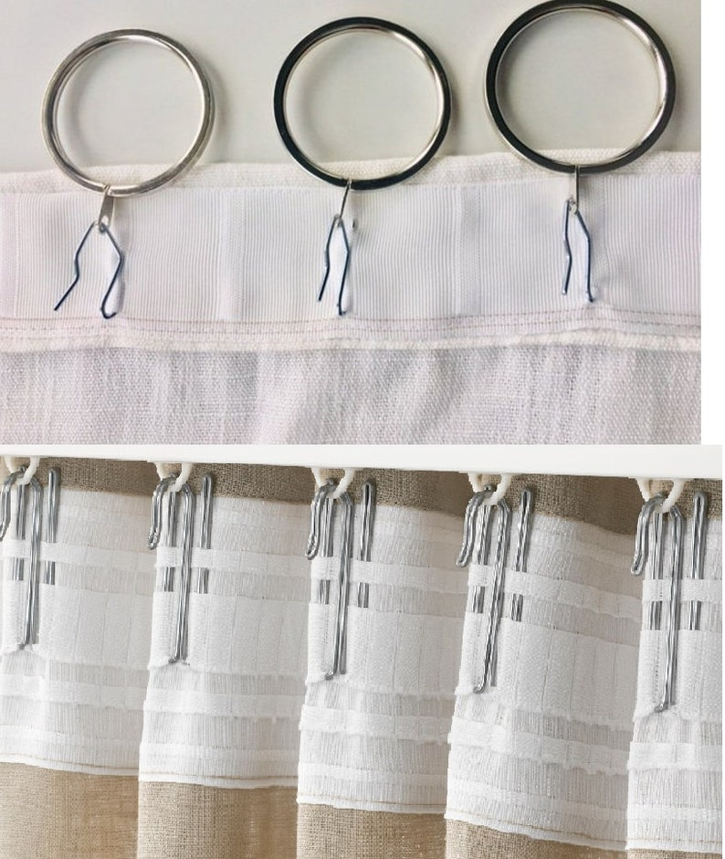 Add Curtain Tape With Hooks For Ceiling Track System Or