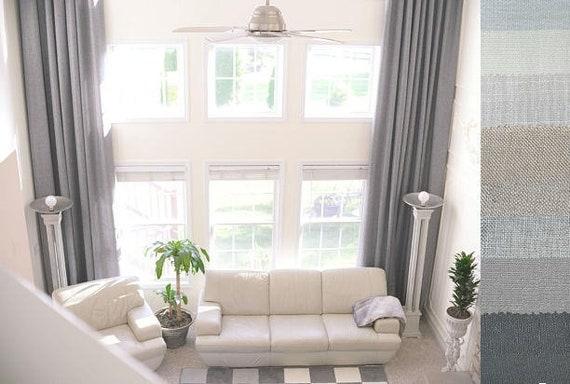 2 Extra Long Natural Linen Curtains Drapes Custom Made 10