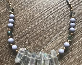 Quartz and Gray Necklace