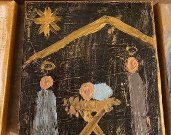 6x6 Dark Nativity