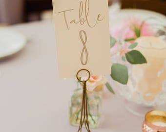 Table Numbers | Printable | Silver