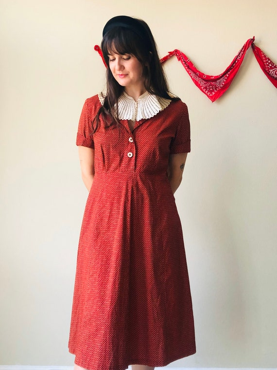 Vintage 1940s Feedsack House Dress