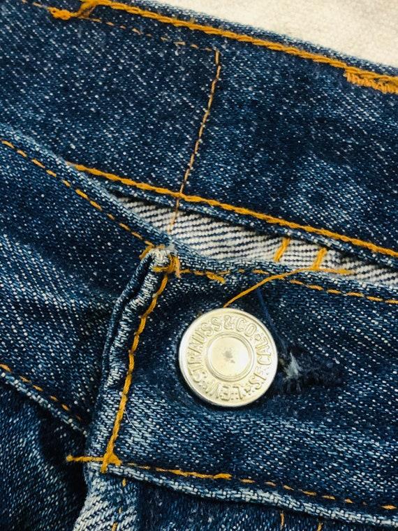 Rare Vintage 1970s Dark Wash Levis 701 Jeans Size… - image 2