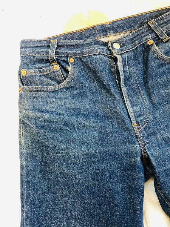 Rare Vintage 1970s Dark Wash Levis 701 Jeans Size… - image 6