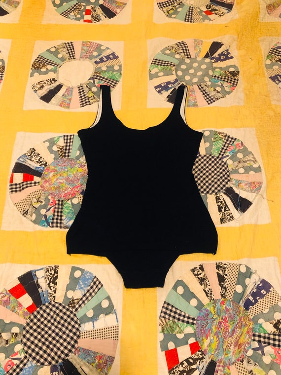 Vintage 1930s Knit Blend One Piece Bathing Suit