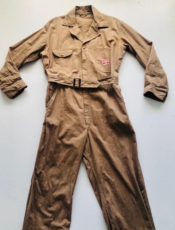 Rare 1940s/50s Workwear Pioneer Industri-All's Tan