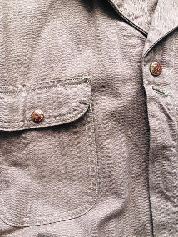 Rare 1940s/50s Workwear Pioneer Industri-All's Ta… - image 8
